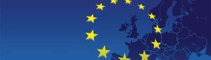drapeau européen et carte de l'europe